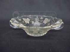 Heisey Etched Glass Bowl