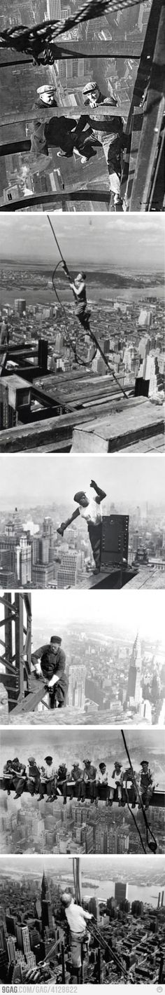 This makes me sick to my stomach. I'm so afraid of heights.  New York New York