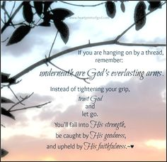 Heartprints of God: Hanging On by a Thread?~