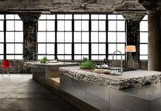 Natural stone design kitchen