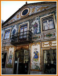 Fábrica de Azulejos (tiles) Viúva Lamego faced, since We bought many ceramics from this beautiful factory Portuguese Culture, Portuguese Tiles, Mosaic Tile Art, Visit Portugal, Unusual Homes, Tile Murals, Amazing Buildings, Iron Work, Wall Art Designs