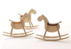 mustang :: children wooden rocking horse