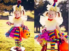 "How to make ""Scrappy TuTu Clown"" costume. Step by step instructions with photos. So easy and fun. A great last minute costume! This just looks fun!"