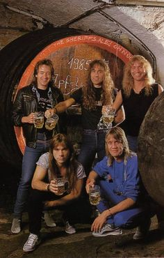 Iron Maiden, metal at its best! 80s Metal Bands, Heavy Metal Bands, Great Bands, Cool Bands, Hard Rock, Iron Maiden Albums, Iron Maiden Band, Musical Hair, Bruce Dickinson