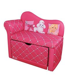 Providing a posh place for little girls to lounge, this pretty piece also lends extra storage space with its pull-out compartment, so cutie's can make the absolute most of their rooms.