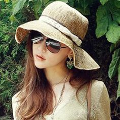 b35736945ab 2015 Top Hats BEST HAT! New Arrival Women Wide Large Floppy Brim Summer  Beach Sun Straw Beach Derby Hat Cap Packable Flexible Online with   11.52 Piece on ...