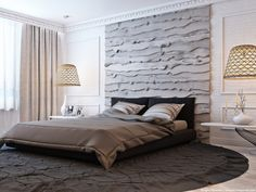 Upgrade Your Bedroom in Design and Décor Tips for Modern Bedrooms in 2018 - Decor Around The World Decor Interior Design, Furniture Design, Bed Design, House Design, Small Bedroom Designs, Hotel Interiors, Modern Bedroom, Contemporary Furniture, Small Spaces