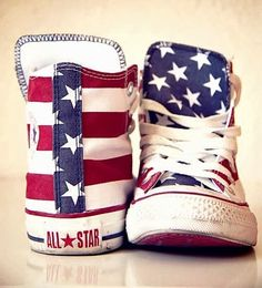 How To Wear Converse Outfits Chuck Taylors All Star 67 Ideas Crazy Shoes, Me Too Shoes, American Flag Converse, American Flag Dress, American Flag Shorts, American Baby, Mode Swag, Zapatillas Casual, Men's Footwear
