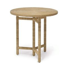 Monarch Side Table - Finely woven seagrass side table