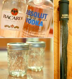 How to make your own vanilla extract..3 vanilla beans, 1 cup vodka, Half-pint or larger jar with lid