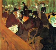 Henri de Toulouse-Lautrec - In the Moulin Rouge - Oil on canvas 123 × 140.5 cm. Art Institute of Chicago