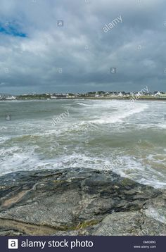 Download this stock image: Stormy weather at Trearddur Bay - GMG99C from Alamy's…
