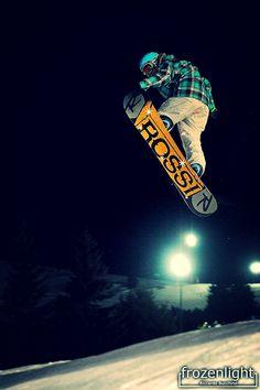 Big air bag snowboard jumping. Bielmonte Star Night, Oasi Zegna, #Italy www.oasizegna.com