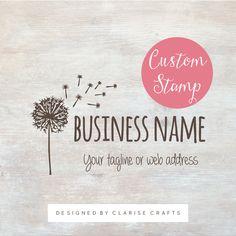 Custom Dandelion Business Logo Stamp by ClariseStamps on Etsy
