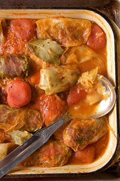 "Constantinescu Spetler's Stuffed Cabbage Rolls_  This recipe is the winner of our ""My Family Recipe Contest,"" sponsored by Le Creuset, and comes from the Constantinescu Spetler family in Romania. To keep the cabbage leaves from falling apart during blanching, boil the cabbages whole and remove the leaves as they become soft until you have the number you need."