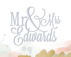 This listing comes with Mr. & Mrs. as an embroidery Font Set in satin stitch.  This listing comes in the following sizes: 4x4 5x7 6x10  Instant download is available with PES, VIP, VP3, JEF, DST, EXP, HUS and XXX. BX is also available with instant download. You will need an editing program to merge the last name onto your embroidery file. If you want the font used in this listing it is Emily in my store. www.etsy.com/shop/HerringtonDesign?ref=hdr_shop_menu&search_query=Emily  **Please note…