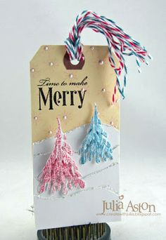 Create With Me: Ellen Hutson's 12 Tags of Christmas - Tags #5, #6 and #7