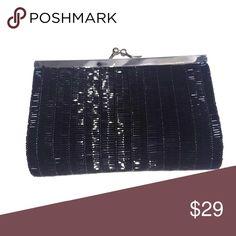 Vintage black beaded handbag 6 x 4 Vintage black beaded handbag 6 x 4 Vintage Bags Mini Bags