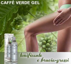 CAFFÈ VERDE GEL - Dr. Giorgini. Cosmetico naturale con caffè verde, carnitina, olio di mandorle, caffeina e vitamine. L'azione tonificante e lipolitica dei semi di caffè verde e della caffeina può aiutarvi a contrastare gli inestetismi della cellulite e favorire un effetto snellente. http://www.drgiorgini.it/index.php/sercafvegel125-drg-caffe-verde-gel-125-ml