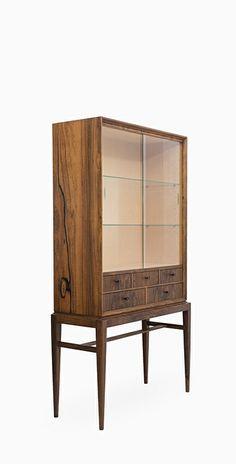 Svante Skogh; Rosewood and Glass Cabinet for Seffle Möbelfabrik, 1960s. Via Studio Schalling.