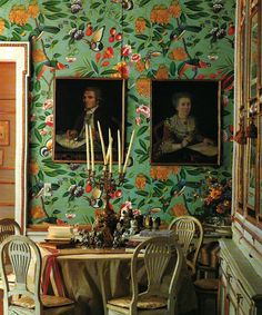 Wallpaper Mural Tricks: How to Choose and Install Fabric Wallpaper, Wall Wallpaper, Pattern Wallpaper, Wall Murals, Wall Art, Wall Treatments, Beautiful Interiors, Chinoiserie, Bunt