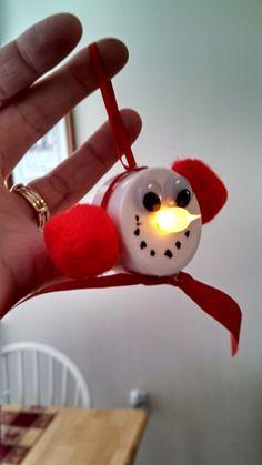 Snowman tealight craft