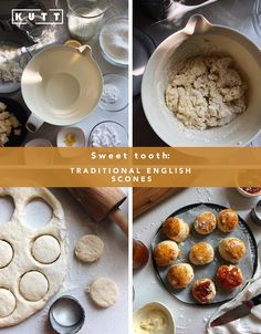 Traditional English Scones There's no 5 o'clock tea without the famous traditional English Scones. English Scones, Desert Recipes, Sweet Tooth, Deserts, Clock, Healthy Recipes, Homemade, Traditional, Tea