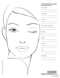 Croqui x Face Chart Face Template Makeup, Mac Face Charts, Face Stencils, Makeup Workshop, Makeup Face Charts, Face Sketch, Face Painting Designs, Makeup Studio, Creative Makeup