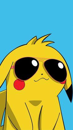 pikachu with sunglasses Cool Pokemon Wallpapers, Pokemon Backgrounds, Cute Pokemon Wallpaper, Kawaii Wallpaper, Cute Cartoon Wallpapers, Disney Wallpaper, Cartoon Images, Pikachu Drawing, Pikachu Pikachu