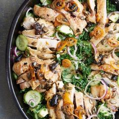 Roast chicken, kale and avocado salad | Peter Gordon Recipes - Red Online
