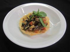 Tartelette met kalf oesters en ratatouille