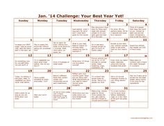 EatMore2WeighLess.com  January 2014 Challenge - Make it Your Best Year Yet!
