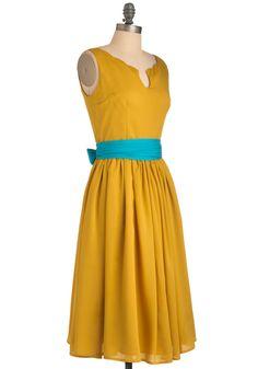 For Jahda's wedding! Effortless Allure Dress in Gold | Mod Retro Vintage Dresses | ModCloth.com