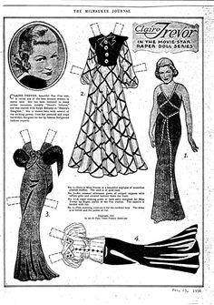 "Claire Trevor, ""Movie Star Paper Doll Series,"" February 23, 1936."