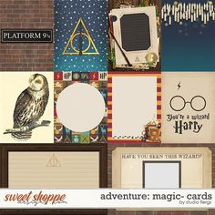A digital scrapbooking pack by Studio Flergs. cards & cards in both orientations. Saved in JPG format cards are PNG) & will work with the Project Life app. Scrapbooking Digital, Pocket Scrapbooking, Scrapbooking Ideas, Studio Cards, Harry Potter Collection, Magic Cards, Kit, Detailed Image, Rose Design