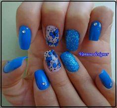 Azul mariposas