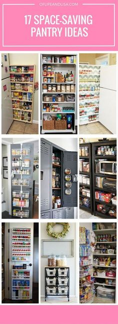 Creative space-saving pantry ideas for those with small kitchens.