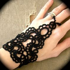 Tatted Slave Bracelet  Forever Scrolling by TotusMel on Etsy, $35.00