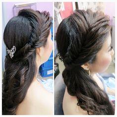 Fishbone braid hairstyle ❤ Bride: Wai Yee ✨