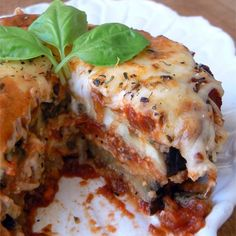 """Eggplant Parmesan II I """"I really enjoyed this recipe. Much healthier than frying and very delicious."""""""