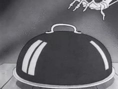 my gif gif LOL funny food vintage cartoon animation retro skeleton nostalgia thanksgiving dinner 1930s turkey black comedy dark humor Spooks...