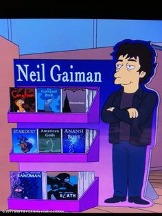 Neil Gaiman on The Simpsons - it goes out on November 13th.