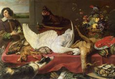 Still Life with a Swan, Frans Snyders, 1640s