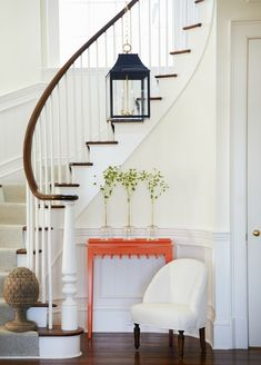 147 the best stairs ideas to interior design your home -page 5 Curved Staircase, Grand Staircase, Staircase Design, White Staircase, Modern Stairs Design, Under Staircase Ideas, Staircase Diy, Staircase Spindles, Interior Staircase