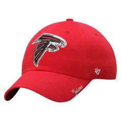e86179c9d83b8f Atlanta Falcons '47 Brand Women's Sparkle Clean Up Adjustable Hat - Red