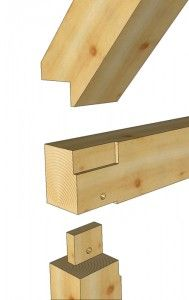 Exploded Rafter Seat Timber Frame Detail