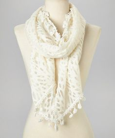 Another great find on #zulily! White Lace Scarf by Zashi #zulilyfinds