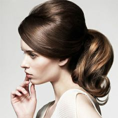 Pictures : Date Hairstyles: Sexy and Romantic - Retro Ponytail with Bump Date Hairstyles, Retro Hairstyles, Ponytail Hairstyles, Straight Hairstyles, Wedding Hairstyles, Medium Hairstyles, Hairstyle Short, Waitress Hairstyles For Long Hair, Vintage Hairstyles Tutorial
