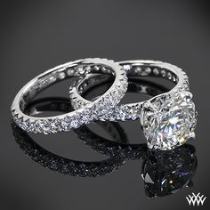 Harmony Diamond Engagement Wedding Set featuring 2.53ct Round Diamond.     A girl can dream <3