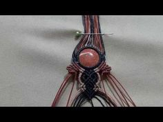 Handmade becklace with stone Macrame Ep..2 - YouTube